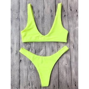 Zaful Neon yellow Bikini